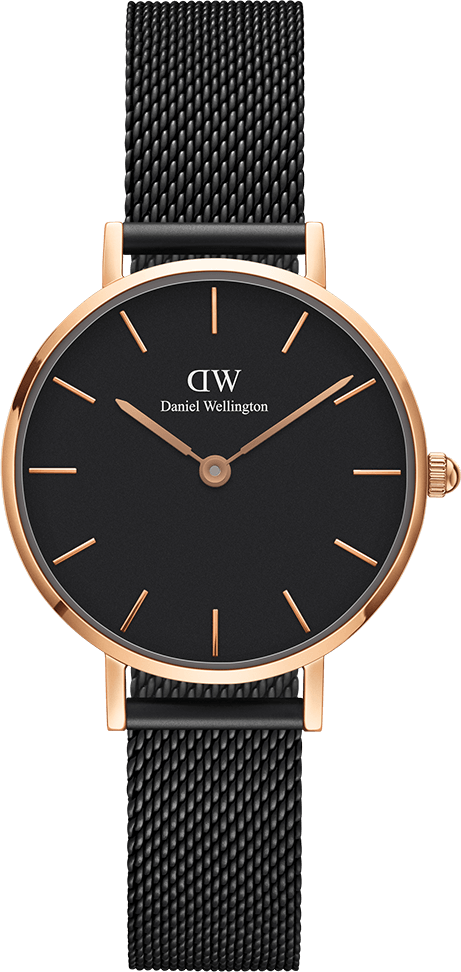 Часы Daniel Wellington DW00100245 Petite Ashfield RG Black RG 28
